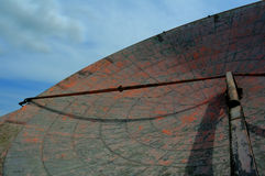 Radar dish, NFSS Stenigot. Radar dish awaiting scrapping, former NATO Forward Scatter Station, Stenigot, Lincolnshire Stock Photos