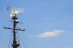 Radar do navio de guerra Fotografia de Stock