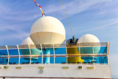 Radar dome on cruise ship Stock Image