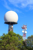 Radar dome Royalty Free Stock Photo