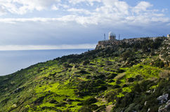 Radar Dome. Located in Dingli Cliffs on the island of Malta Stock Photography