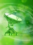 Radar doppler astronomico, elementi radiali di HUD illustrazione di stock