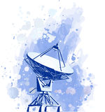 Radar dos pratos satélites ilustração royalty free