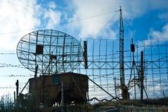 Radar e veicolo militari della base Immagini Stock