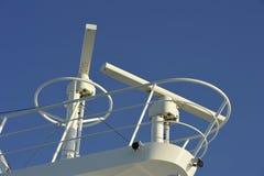 Radar eines Luxuskreuzschiffs Stockbild