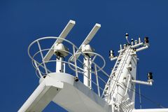Radar equipment. For safety reasons on a cruise ship royalty free stock photos