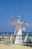 Radar Equipment on Deck of Ship Stock Image