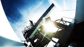 Radar et antenne par radio sur le cargo avancé Photos libres de droits