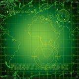 Radar Europa und Afrika Lizenzfreies Stockfoto
