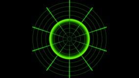 Radar för animeringobjektupptäckt royaltyfri illustrationer