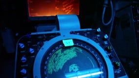 Radar för mörkt rum för slagskepp stock video