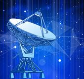 Radar-ficelles-teory illustration stock