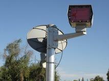 Radar Flash with Satellite Royalty Free Stock Photos