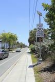 Radar-Geschwindigkeits-Anzeigen-Zeichen Stockbild