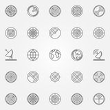 Radar icons set Stock Photography
