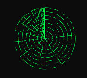Radar  illustration Royalty Free Stock Images