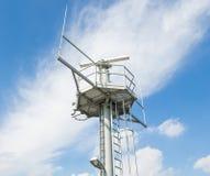 Radar installation against a blue sky Royalty Free Stock Photos