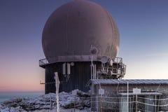 Radar installation. On Great Arber mountain, Bavaria, Germany royalty free stock image