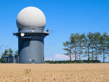 Radar installation Royalty Free Stock Photo