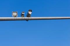 Radar. Installed surveillance cameras in city Royalty Free Stock Photography