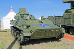 Radar intelligence to detect ground, overwater and low-flying ai. ZHUKOVSKY, MOSCOW REGION, RUSSIA - AUG 24, 2015: Self-propelled radar intelligence to detect royalty free stock images