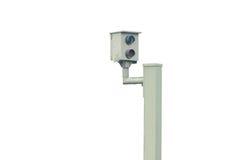 Radar kontrola, błysk, prędkości kamera, prędkości kamery Fotografia Stock