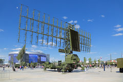 The radar. KUBINKA, MOSCOW OBLAST, RUSSIA - JUN 18, 2015: The radars at the International military-technical forum ARMY-2015 in military-Patriotic park Royalty Free Stock Photos