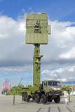 Radar. KUBINKA, MOSCOW OBLAST, RUSSIA - SEP 06, 2016: The mobile three-coordinate all-round looking radar system of low altitudes of multi-service application Royalty Free Stock Photography