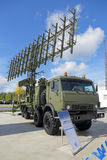 Radar. KUBINKA, MOSCOW OBLAST, RUSSIA - SEP 06, 2016: The mobile three-coordinate multi-range radar system 1L125E production VKO Almaz-Antey at the International Stock Photos