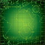 Radar l'Europe et Afrique Photo libre de droits