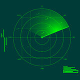 Radar localization Stock Images