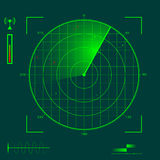 Radar localization Royalty Free Stock Images