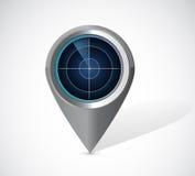 Radar locator illustration design Royalty Free Stock Photo
