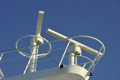 Radar of a Luxury Cruise Ship Stock Image