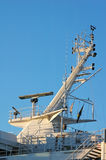 The radar-mast on an cruse ship Royalty Free Stock Photos