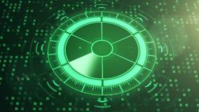 Radar med målet på översikt Futuristisk användargränssnitt HUD stock illustrationer