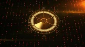 Radar med målet på översikt Futuristisk användargränssnitt HUD royaltyfri illustrationer