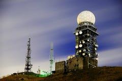 Radar meteorológico de la noche fotos de archivo
