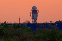 Radar meteorológico do instituto de INMH em Bucareste imagem de stock