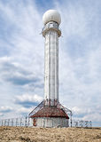 Radar meteorologico bianco Fotografia Stock Libera da Diritti