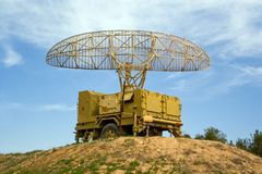 Radar militaire Photo stock