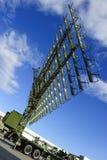 Radar militaire sur le camion Photos stock