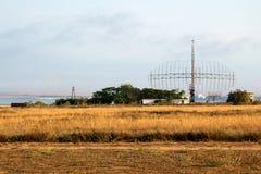 Radar militar do sistema antiaéreo Fotos de Stock Royalty Free