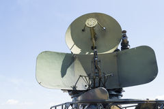 Radar militar a partir de la era de la guerra fría Foto de archivo libre de regalías