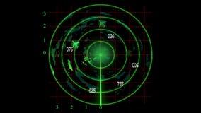 Radar monioring plane stock video footage