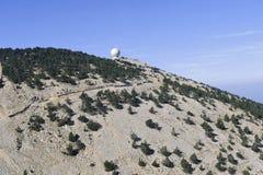 Radar Mount Ventoux protecting airspace Royalty Free Stock Image