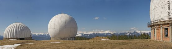 Radar in mountain Royalty Free Stock Photography