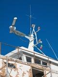 Radar naval. Photographie stock