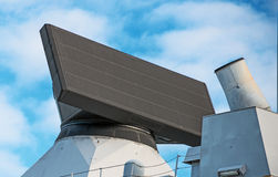 Radar on naval ship. View of radar on naval ship Stock Images