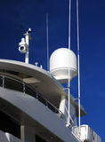 Radar and night vision camera on boat Stock Photos